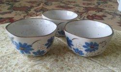 Kék virágos tálkák, szuflés edénykék