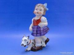 0C360 Régi SITZENDORF jelzett porcelán figura