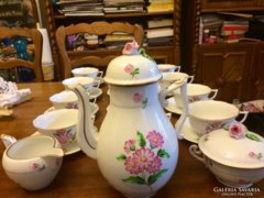 Gyönyörű festésű 12 személyes 27 darabos Herendi teáskészlet