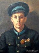 Kiss Károly 1952 - Román rendvédelmi tiszt portré
