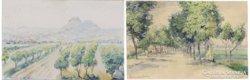 Magyar festő 1940 körül : Várrom / Fasor párkép