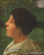 Fáy Dezső : Olasz nő 1904