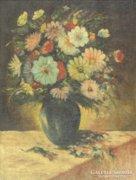Magyar festő, XX. század közepe : Virágcsendélet