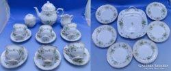 0B996 Hollóházi porcelán teázó készlet 22 db