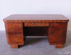 0C526 Nagyméretű art deco LINGEL íróasztal