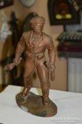 Bronzírozott katona figura