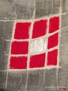 """""""Hálóban""""-kortárs absztrakt festmény, a művésztől"""
