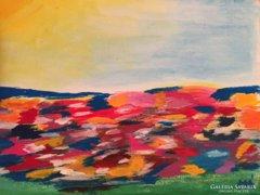 """""""Tavasz""""-kortárs impresszionista festmény, a művésztől"""