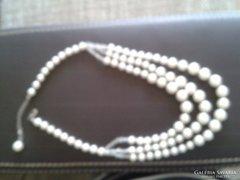 Elegáns 3 soros gyöngy nyaklánc