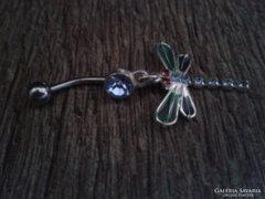 Egyedi, szitakötő formájú piercing eladó
