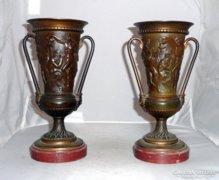 Francia empire bronz vázapár 1870-90.