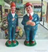 Stan és Pan kerámia szobor pár ritkaság