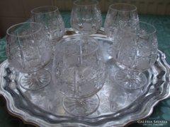 Kristály konyakos poharak