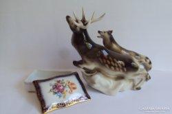 Eladó nagyméretű Royal Dux porcelán + német bonbonier