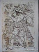 Józsa János Vándor rézkarc