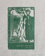 Tichy Gyula: Ex libris Kozma Lajos-Szecessziós aktkompozíció
