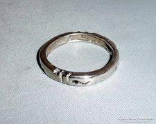 Vastag vésett ezüst gyűrű 19,5mm