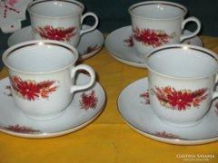 4 db Antik Ilmenau Jlmenau csésze alátéttel