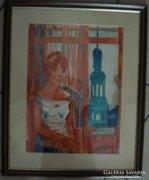 Xantus Gyula alkotása: Hölgy az ablaknál