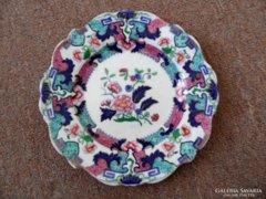 Japán porcelán dísz tányér 22cm jelzett