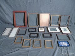 5342 Antik régi képkeret fotókeret egyben 20 db