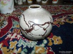 Csurgatott mázas Illés kerámia váza - IDEA iparművészeti