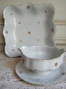 Porcelán kínáló és szószos tál