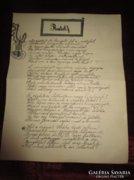 RUDOLF TRÓNÖRÖKÖS KORONA HERCEG gyász vers 1889 kézirat
