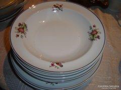 Madaras lapos mény tányér 10 darab hollóházi