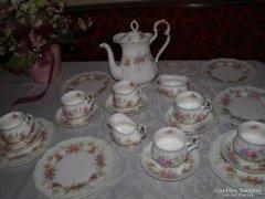 Antik! kuriózum! Royal Albert Angol Colleen 6szem.teás/kávés