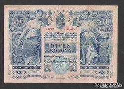 50 korona 1902. (VF), NAGYON SZÉP !!!