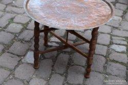 1881 es jelzett keleti antik kávézó asztal 58x42cm
