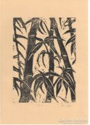 Bambuszok - Linómetszet