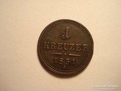 1 krajcár 1851 A