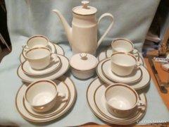 6 személyes csodálatos Kahla kávés készlet 6 süteményes t.