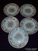 Angol porcelán süteményes tányérok (5 db)