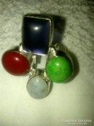 925 jelzett féldrágakő gyűrű