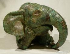 Minőségi bronz elefánt szobor