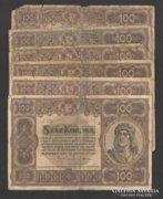 100 korona 1920. (6 db) !!!
