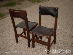 Bőrtámlás faragott fa szék 2 db eladó!
