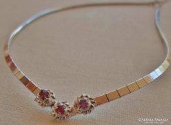 Szépséges art deco ezüstözött nyakék rubinokkal