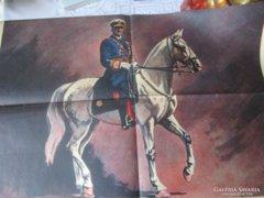1943 Horthy Miklós 75 éves nagy és erdeti plakát