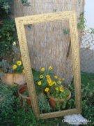 Gyönyörű antik fakeret , képkeret , virág mintával 135 X 68