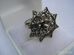 Filigrán ezüst gyűrű
