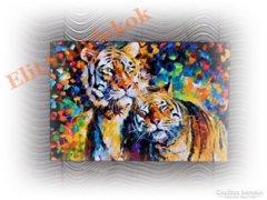 Tigrisek - varázslatos festménykép vásznon