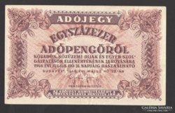 Egyszázezer adópengő 1946. (Hátlapi nyomat, elcsúszott)!!!