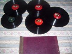 Antik bakelit lemez gyűjtemény