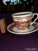 Angol porcelán teáscsésze + alj