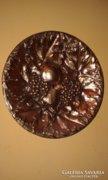 Réz fali tányér