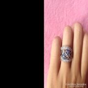 Virágos cirkon köves ezüst gyűrű